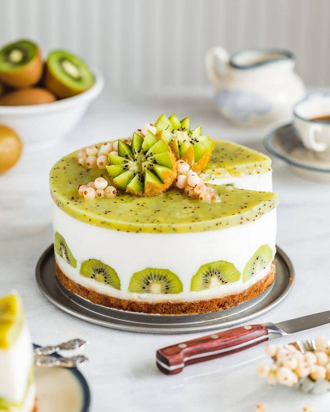 This Is Kiwi Yogurt Cake Vegan Friendly Gluten Refined Sugar