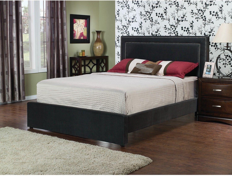 Bedroom Furniture Amber Queen Bed Charcoal