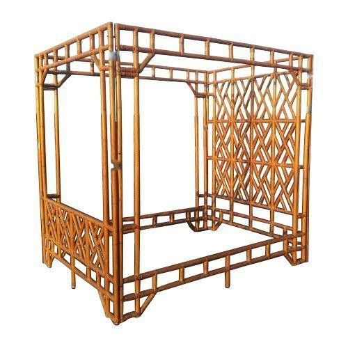 Vintage Queen Rattan Canopy Bed  sc 1 st  Pinterest & Vintage Queen Rattan Canopy Bed | Rattan Canopy and Queens