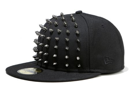 482dd2cdd12 New Era 59Fifty Baseball Cap Custom Spiked Design By Ric Spike ...