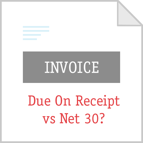 Invoice Payment Terms Net 30 Or Due On Receipt Invoice Template Online Invoicing How To Make Resume