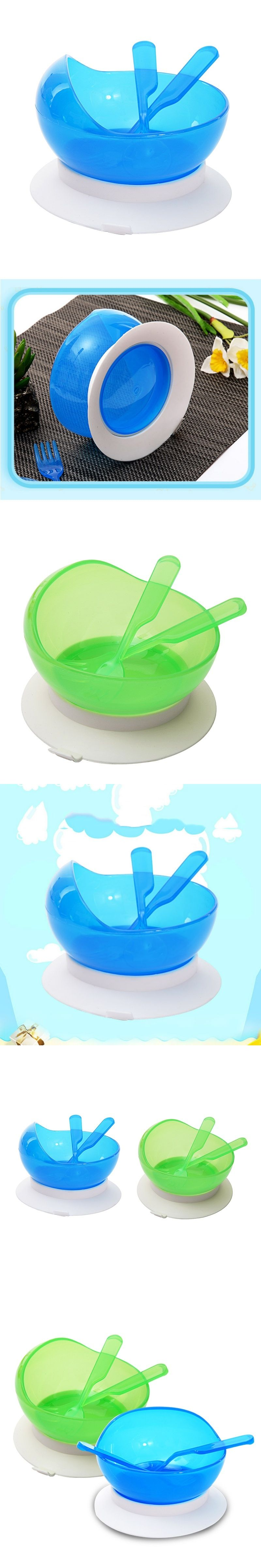 1set Baby Tableware Baby Learn Dishes With Suction Cup Help the Bowl