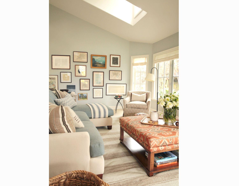 Corona Del Mar Blue Living Room Eclectic Interior Designer Orange County  Brittany Stiles Two Tone Sofa