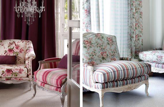 Marca la diferencia con un sill n de rayas cosas que me gustan colorful interiors home - Telas para tapizar sillones orejeros ...