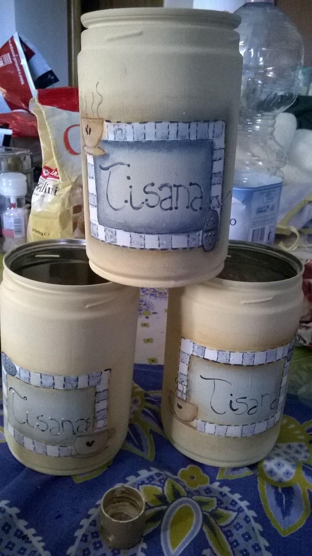 Barattoli in latta porta tisana : Cucina e servizi da tavola di ...