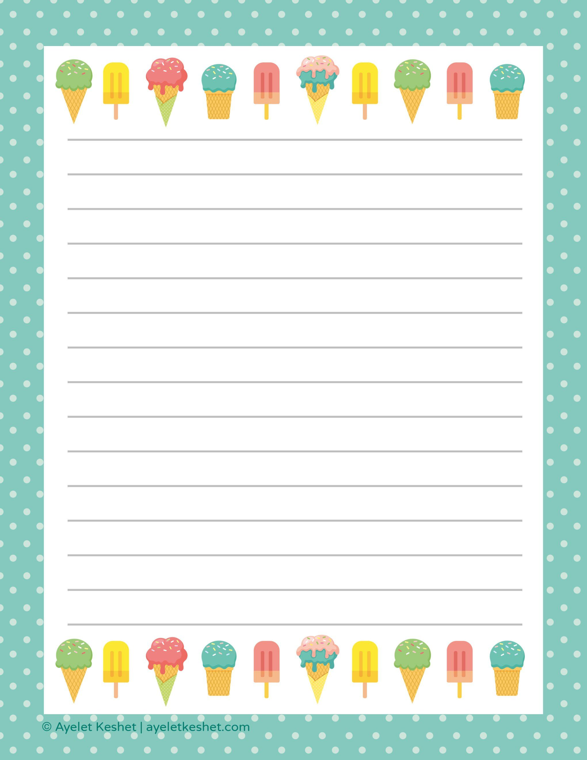 free printable letter paper | printables to go | paper, printables