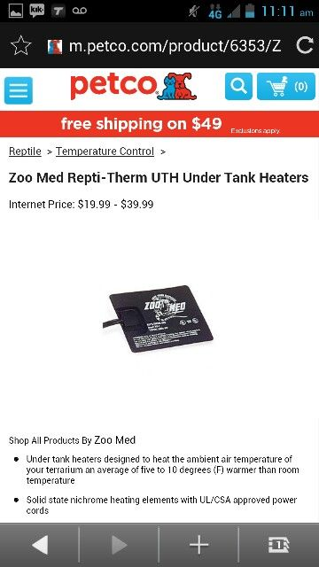 zoo Med repti therin UTH under tank heaters