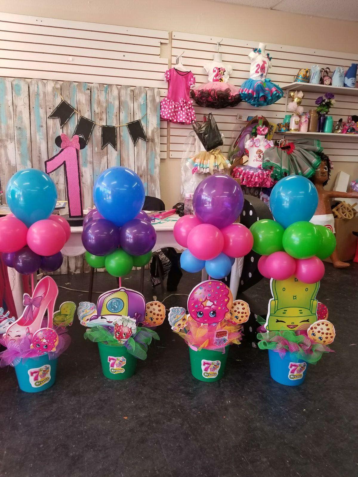 Shopkins Centerpieces Shopkins Party Decorations Shopkins Birthday Party Decoration Shopkins Birthday Party
