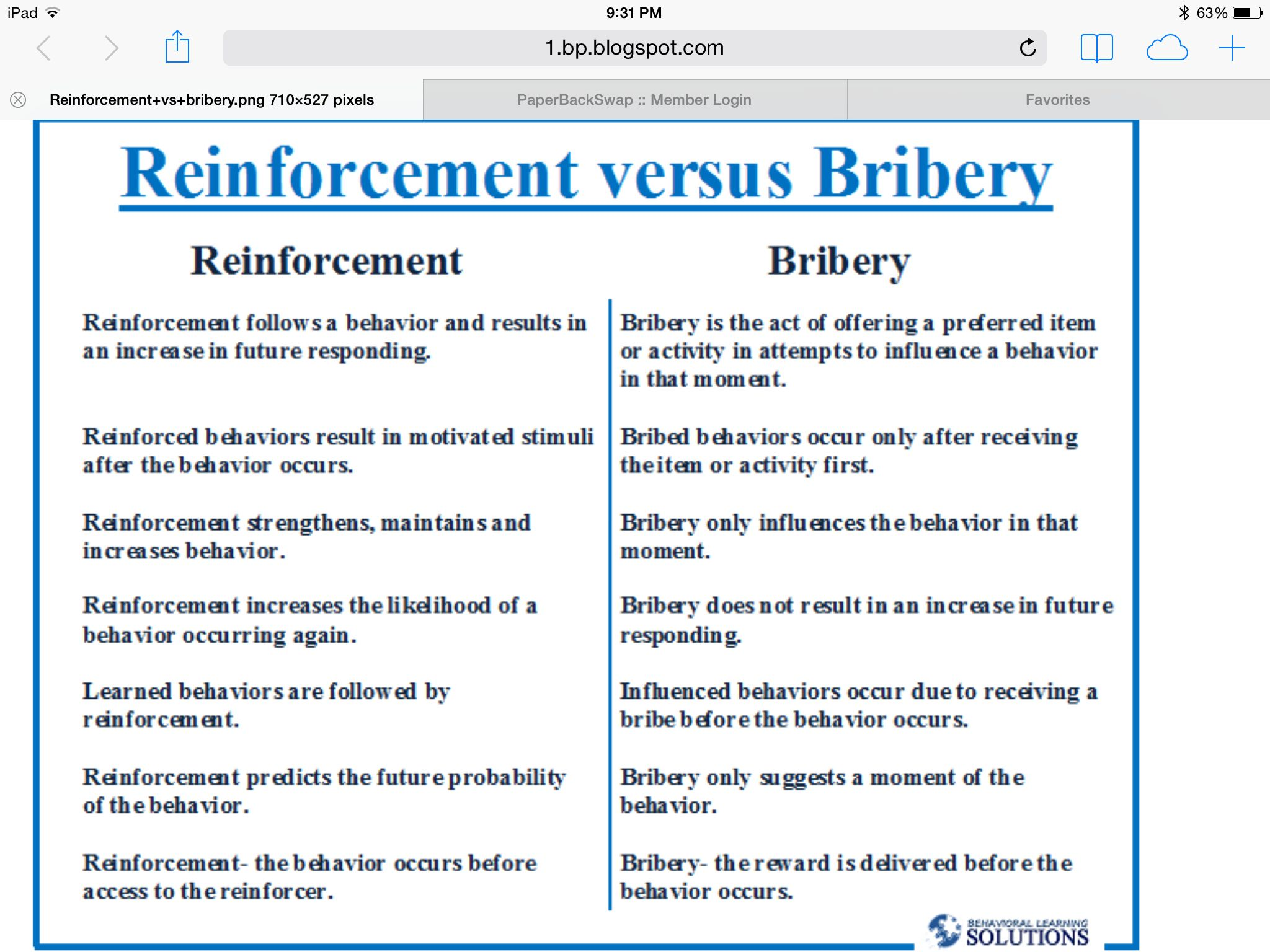 Reinforcement Vs Bribery  Aba    School Psychology And