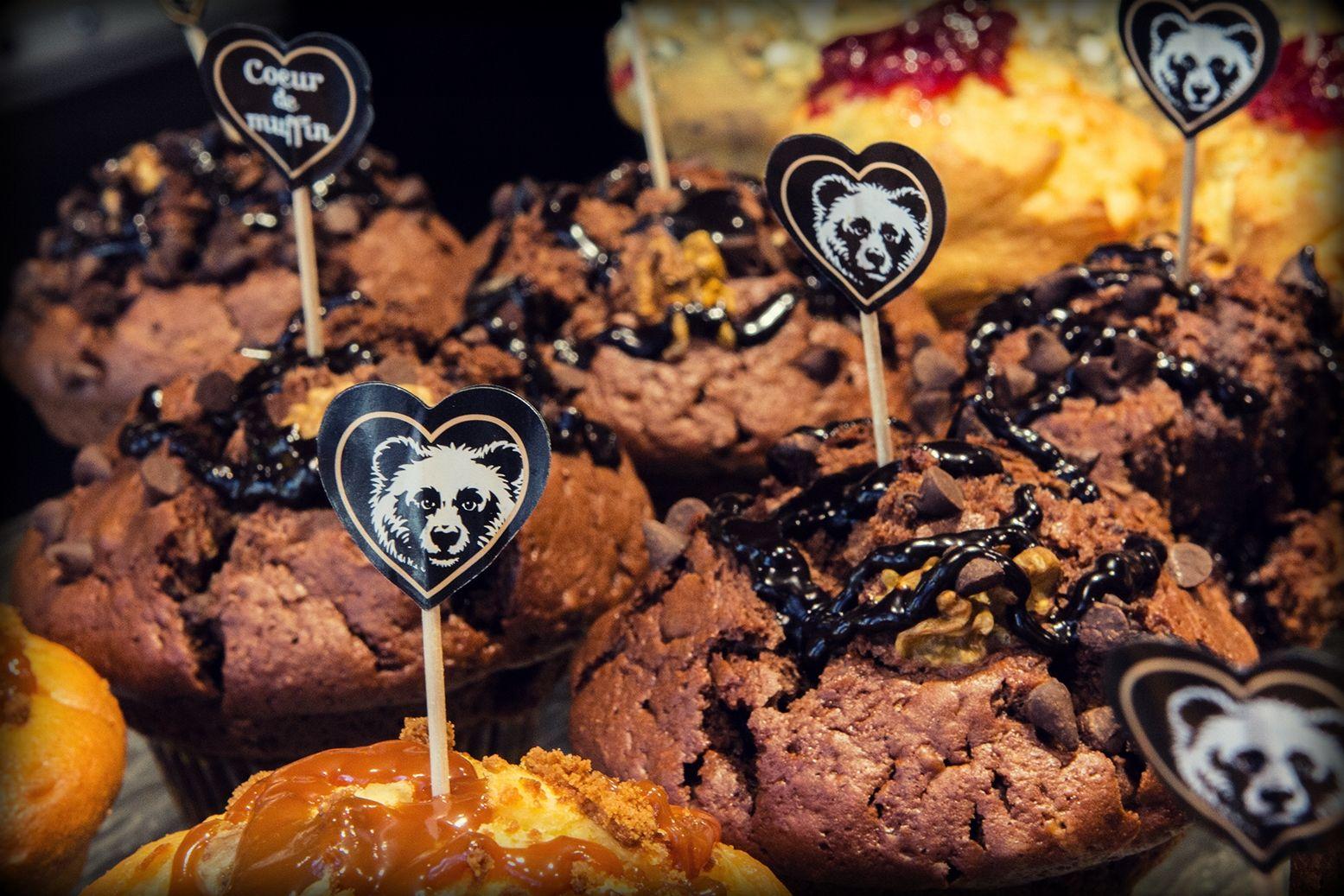 Les cœurs de muffins Columbus Café & Co <3