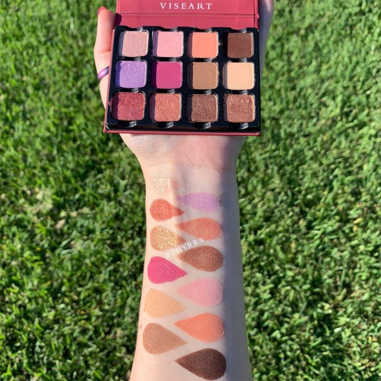 Viseart Rosé EDIT Eyeshadow Palette Review & Swatches on
