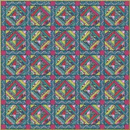 Folkloric Dream Quilt Kit featuring Splendor by Amy Butler ... : amy butler quilt kits - Adamdwight.com