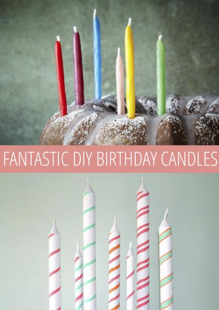 10 Fantastic Birthday Candle DIYs