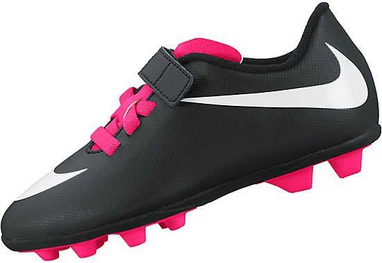 33e249edc5f Nike Kids Bravata FG-R Velcro Soccer Cleats - Black and White ...