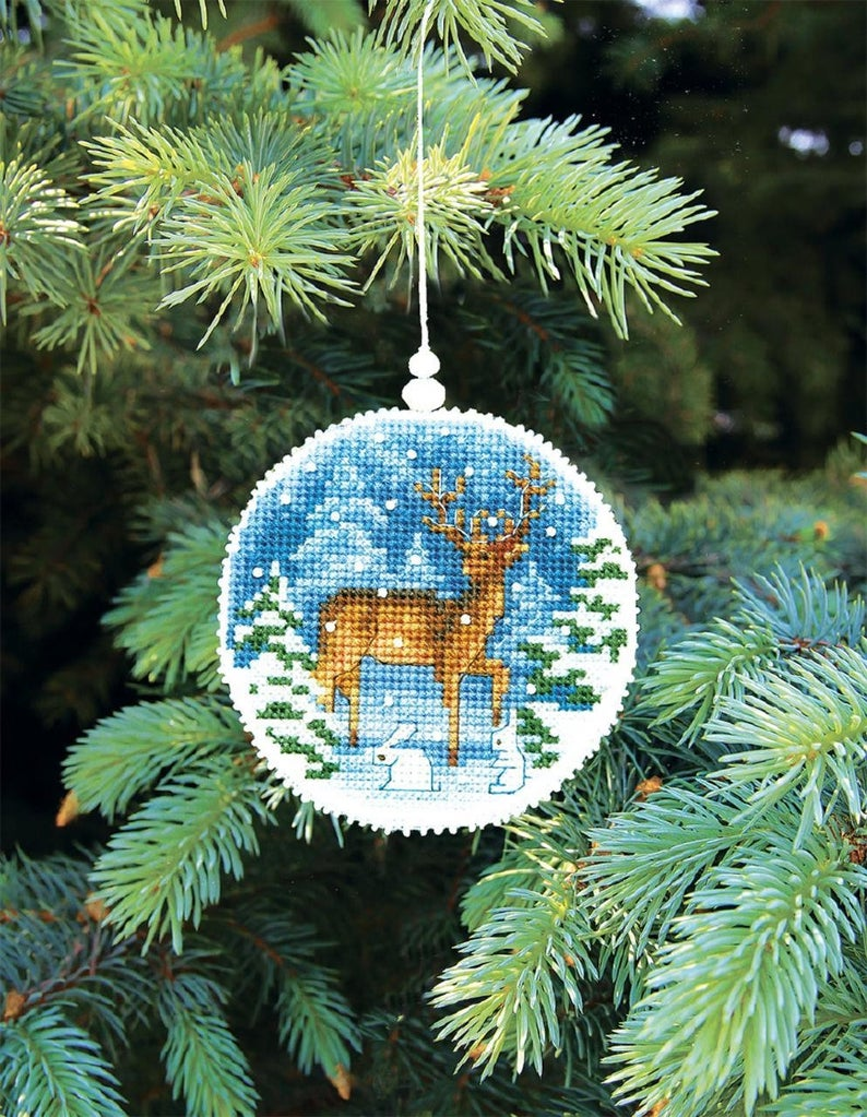 New Counted Cross Stitch Embroidery Kit Beading Embroidery Kit By Charivna Mit Manufacture Christmas Tree Toy Christmas Gift Idea Embroidery Kits Christmas Embroidery Patterns Cross Stitch Embroidery