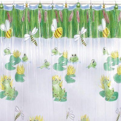 Frog Dragonfly Bee Shower Curtain Froggy Bathroom Decor By Blonder
