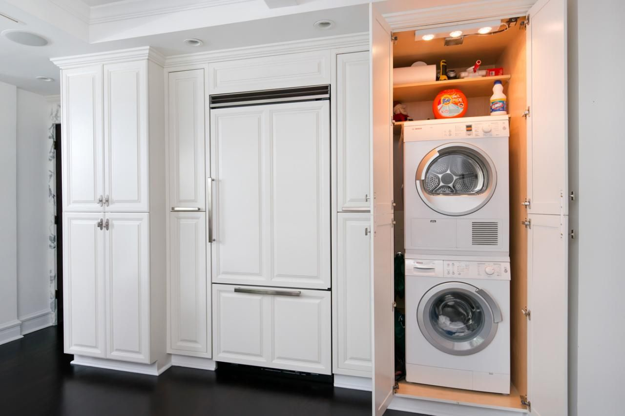 A Stacked Washer And Dryer Are Within Reach But Can Also Be Easily