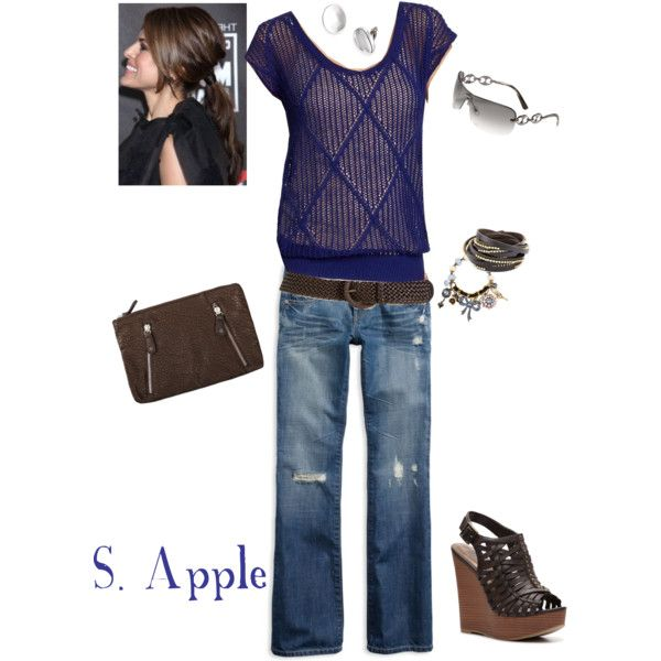 """""""Cute Blue Sweater"""" by sapple324 on Polyvore"""