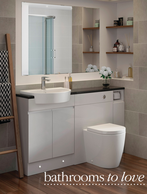 Cilantro Semi Recessed Basin Back To Wall Toilet With Fresco Handleless Fitted Bathroom Furniture Stylish Practical