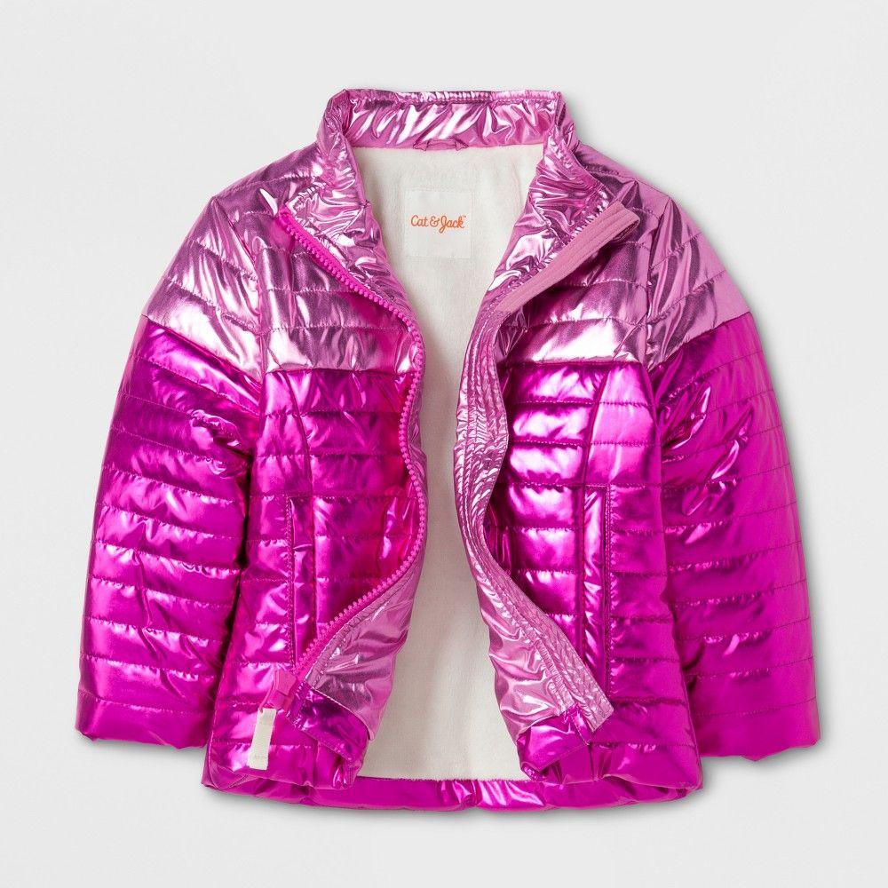 7130025039ea Toddler Girls  Puffer Jacket Cat   Jack - Pink 12M