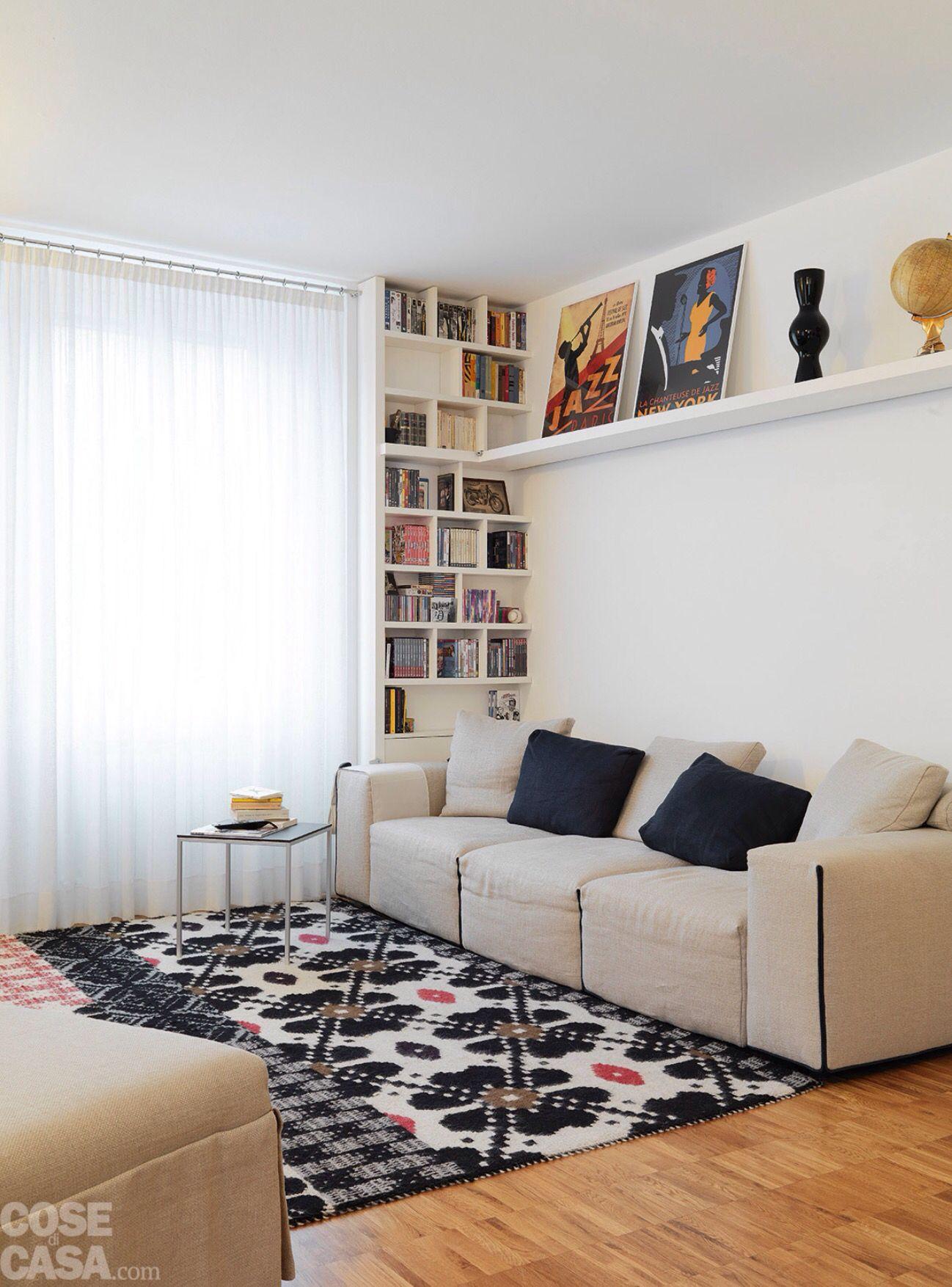 Arredare Mensole Soggiorno libreria + mensola in cartongesso | idee arredamento