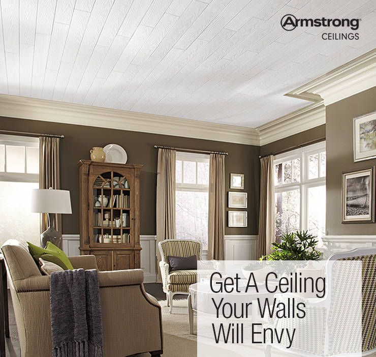 Armstrong Ceilings Common 48 In X 6 In Actual 48 672 In X 6 682 In Country Classic Plank 20 Pack White Faux Wood Surface Mount Acoustic Plank Ceiling Tiles Armstrong Ceiling Living Room Ceiling Ceiling Design
