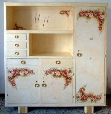 Decoupage per arredamento e decorazione artistica su mobile ...