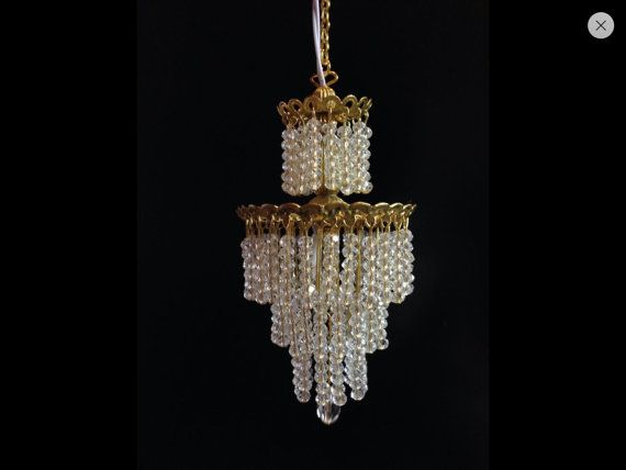 Items Similar To Made Dollhouse Miniature Chandelier Crystal Tiered Electric Wedding Cake On Etsy