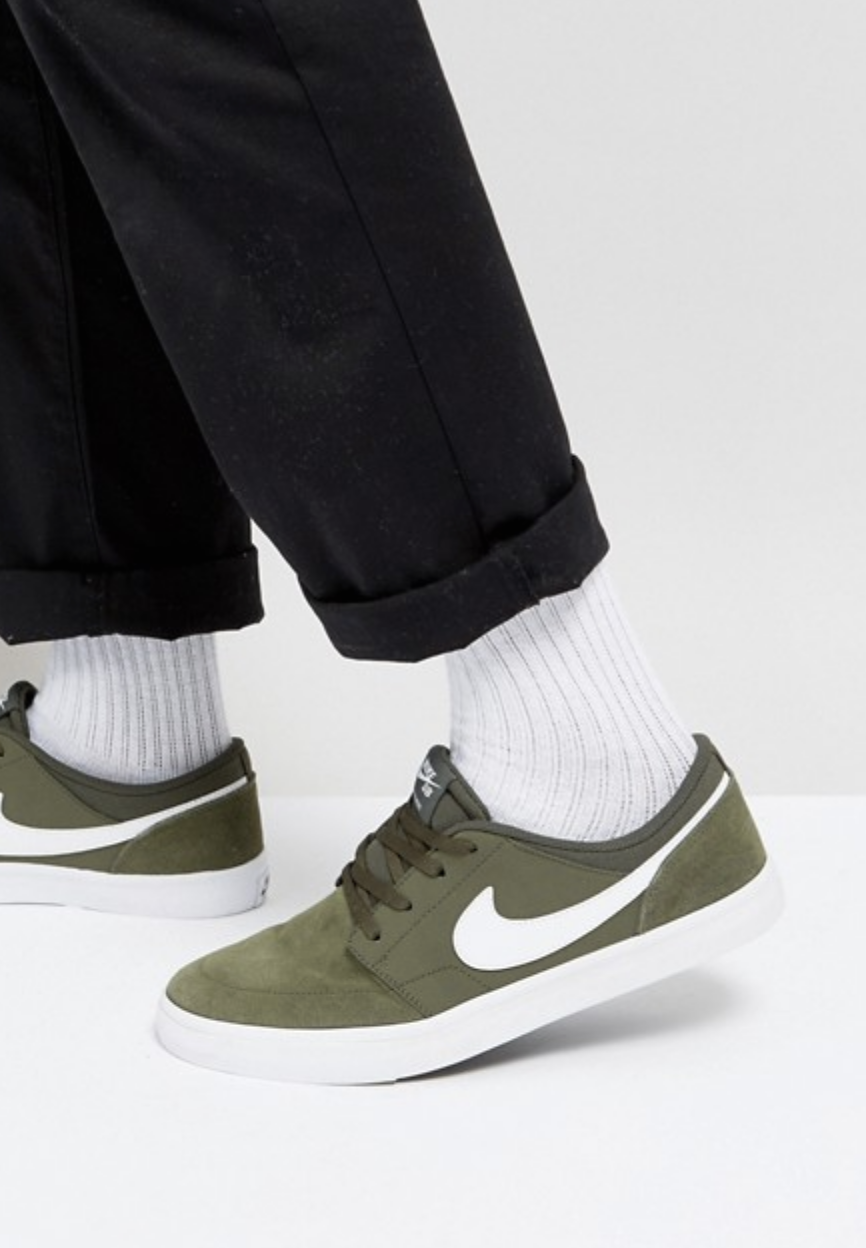 on sale 2957c 75f93 Nike SB Portmore II Solar Trainers In Green 880266-310 from ASOS (men,