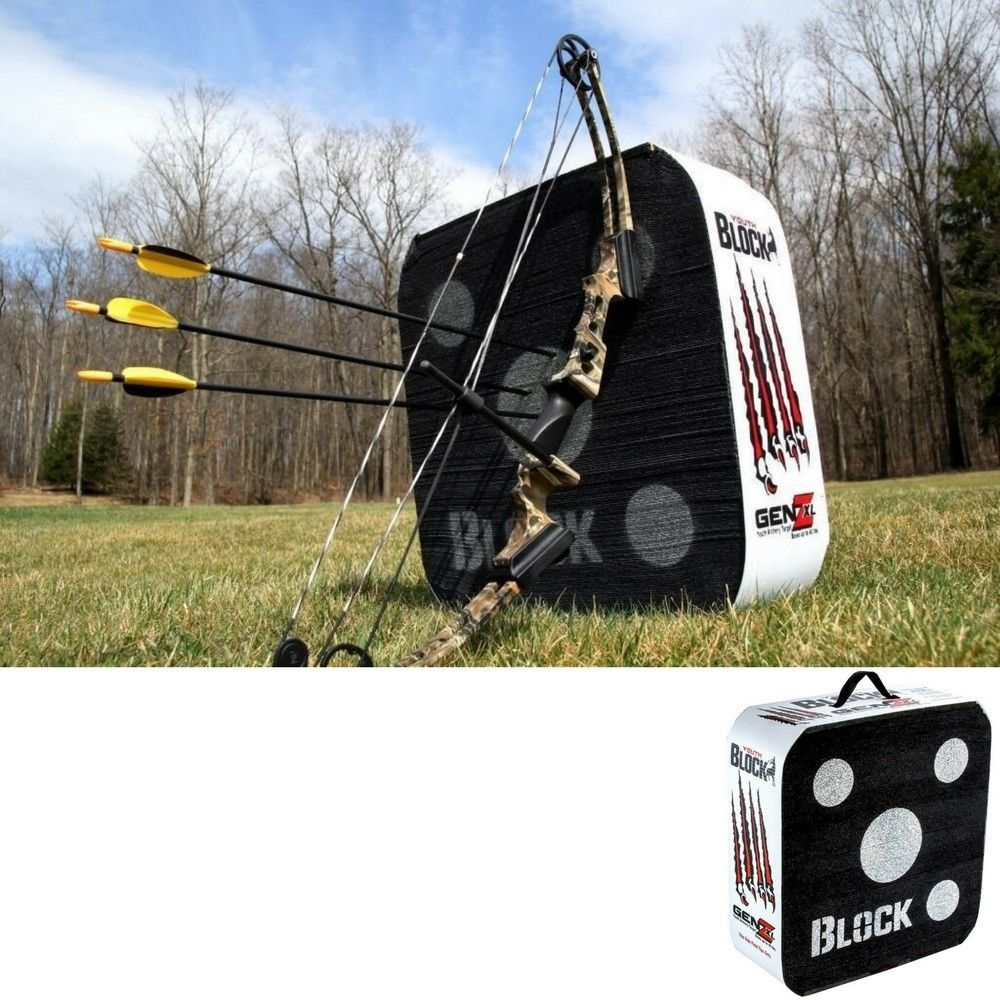 archery target block portable outdoor bow crossbow arrow hunting