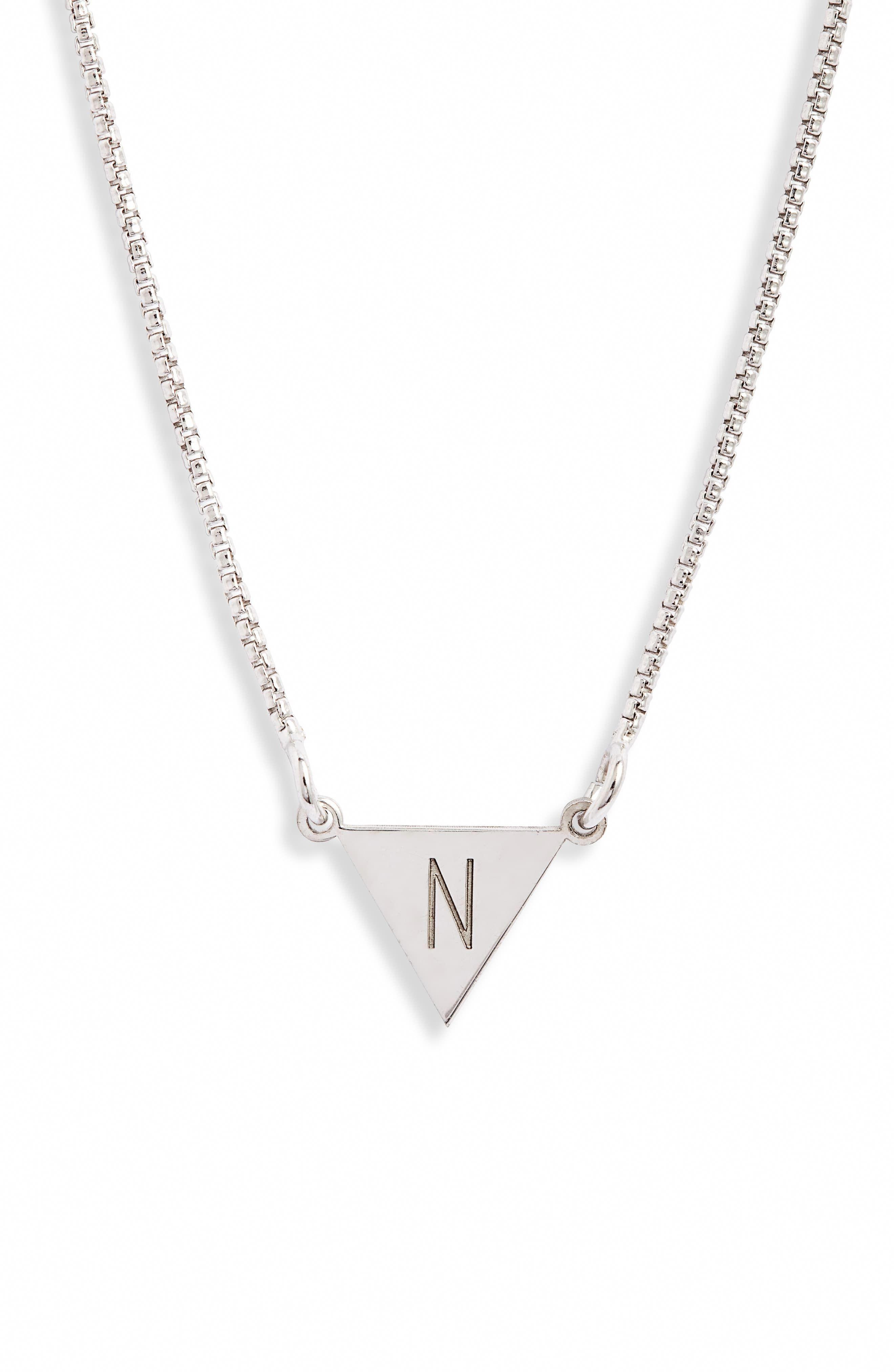 Women S Karen London Say My Name Initial Necklace