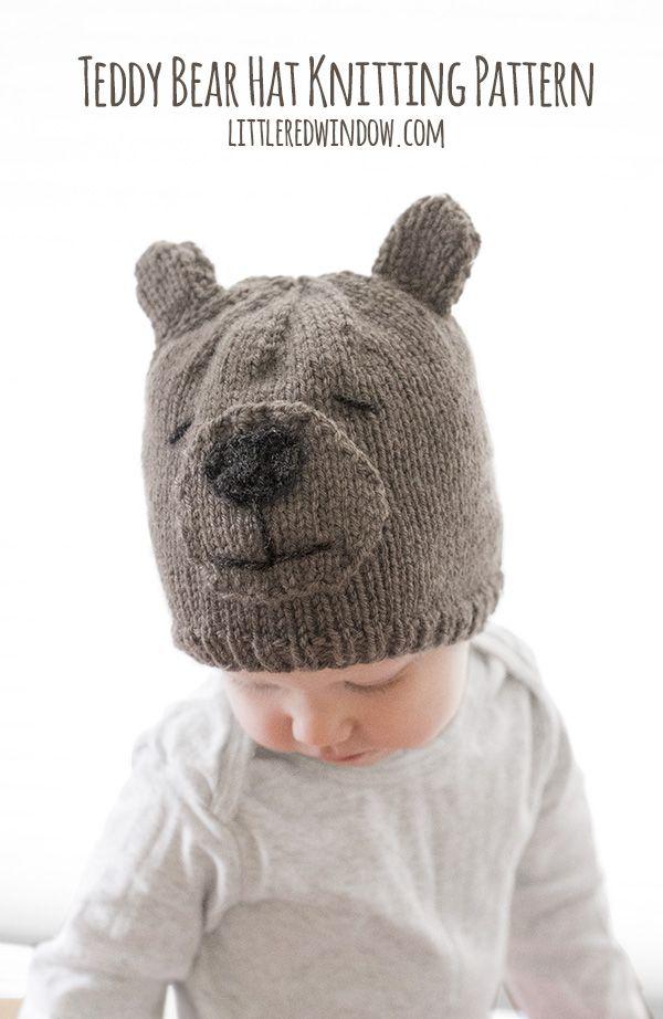 Teddy Bear Hat Knitting Pattern | Stricken für baby, Babykleidung ...