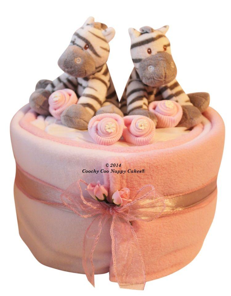 twin baby girl nappy cake baby shower gift hamper www