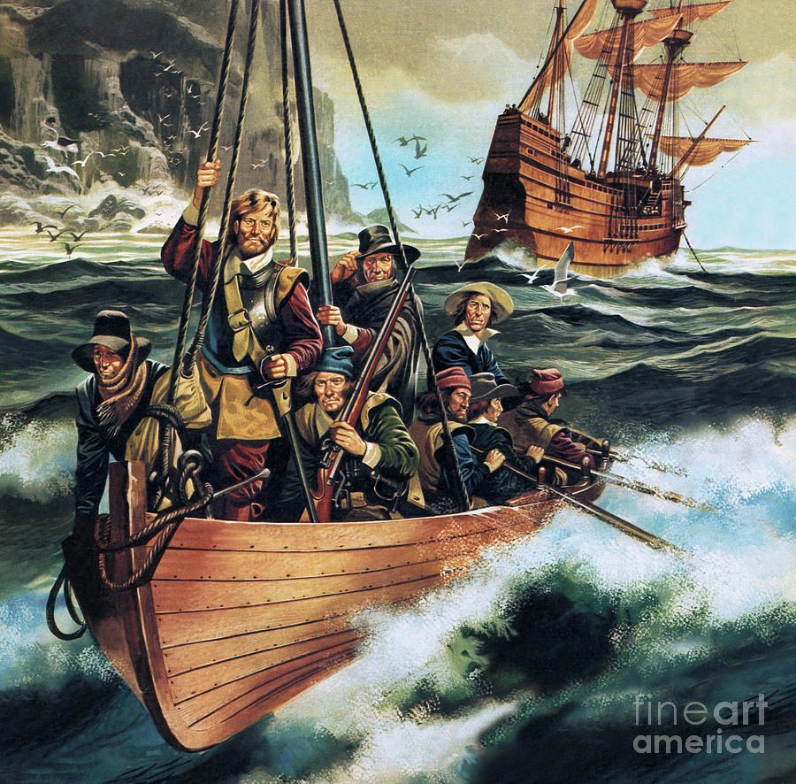 The Pilgrim Fathers by Ron Embleton (With images