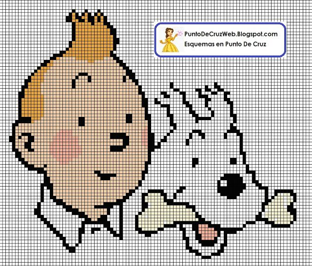 Points de croix *<3* Tintin et Milou