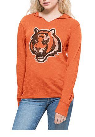 47 Cincinnati Bengals Womens Orange Primetime Hoodie  4c490c8dc8a5