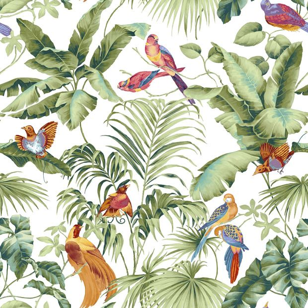 jungle canopy 2 spring papier peints pinterest papier peint peindre et chambres b b. Black Bedroom Furniture Sets. Home Design Ideas