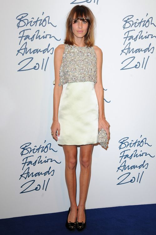 Alexa Chung aux British Fashion Awards en novembre 2011