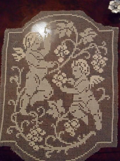 Medaglione Con Angeli Per Tende Angeli Puttini Filet Crochet