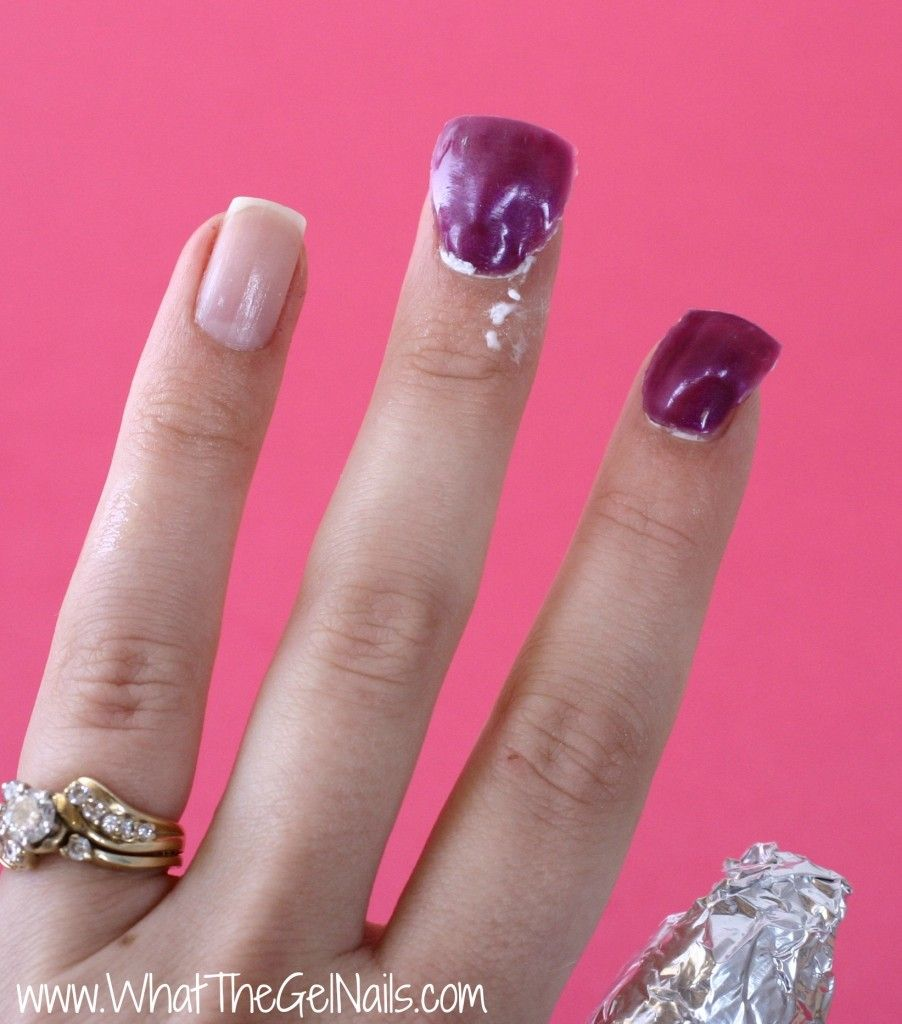 How To Take Off Gel Polish At Home Remove Foil Wraps Take Off Gel Nails Gel Nails At Home Glitter Gel Nails