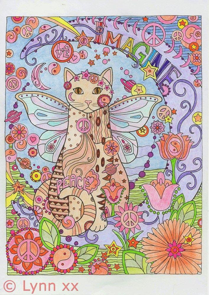 From creative cats coloring book creative cats in 2018 pinterest coloriage chat coloriage - Chat a colorier ...