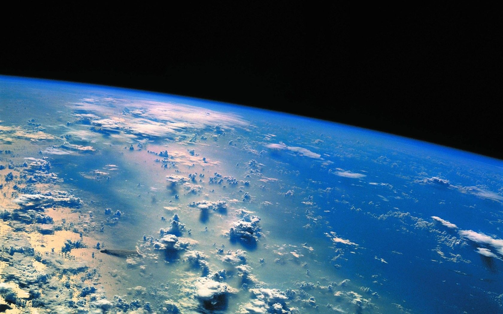Clouds Earth Stars Outer Space Nature Hd Images Free Download