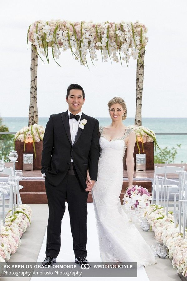 Gown By Inbal Dror Romantic Seaside Wedding At The 1 Hotel South Beach In Miami Florida