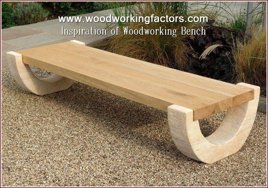 Wood Shop Arrangement Wood Bench Outdoor Concrete Garden Bench