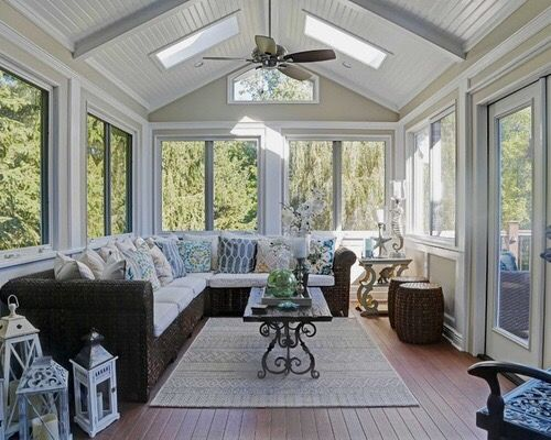Shiplap Ceiling Small Sunroom Sunroom Designs Sunroom Decorating