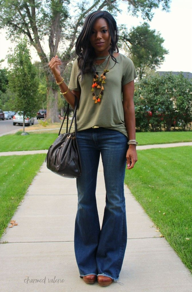 Flare Jeans are Back In Style for Fall 2015 - flare jeans outfit ...