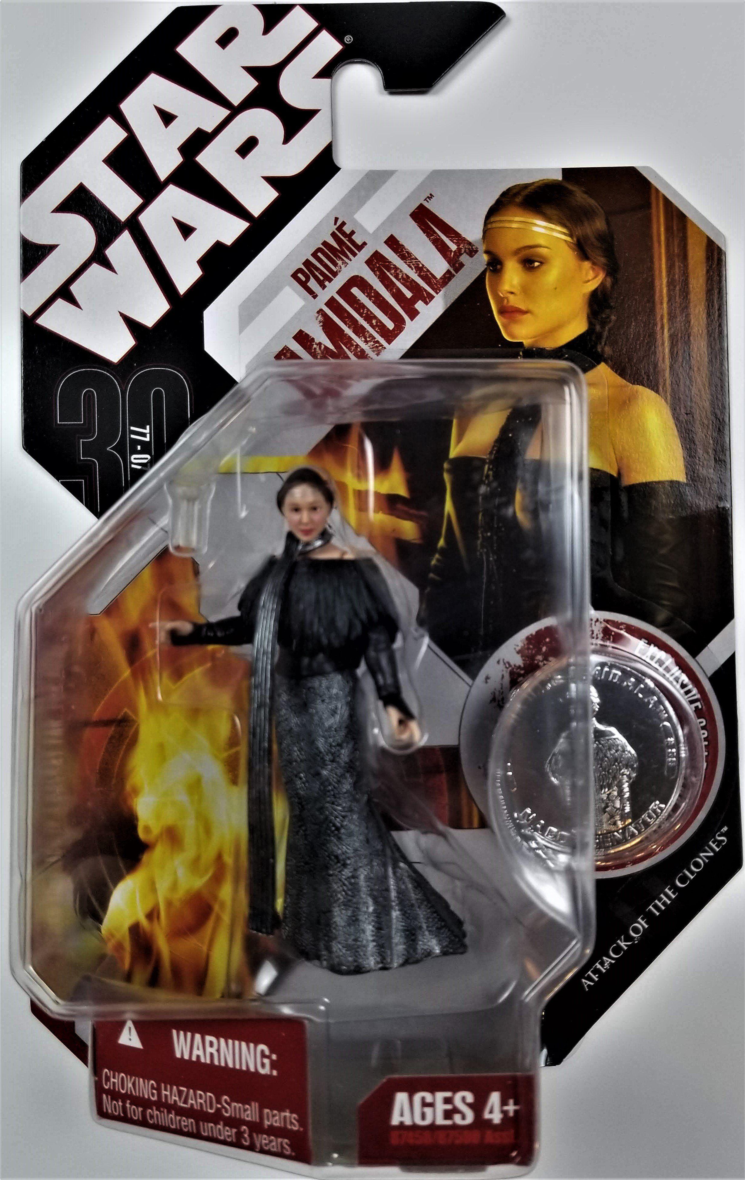 Star Wars 30th Anniversary Padme Amidala figure #56 avec coin