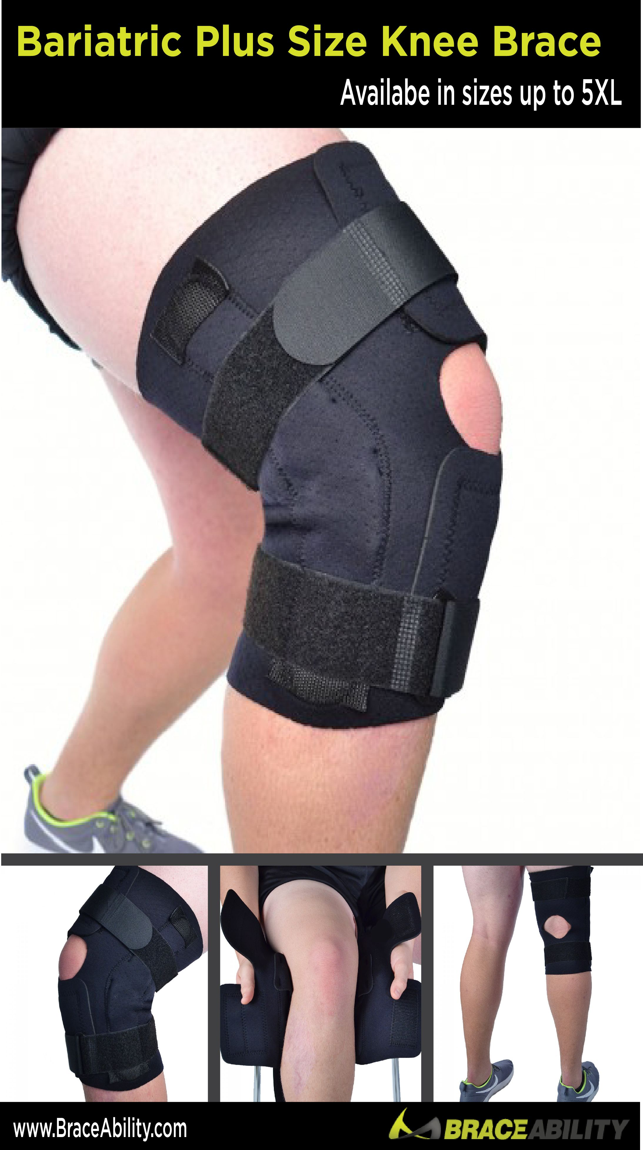 973160bfa1 Got knee pain? Been on that running grind? This plus-size knee brace  provides stability to the knee users can trust (and is a perfect knee brace  for ...