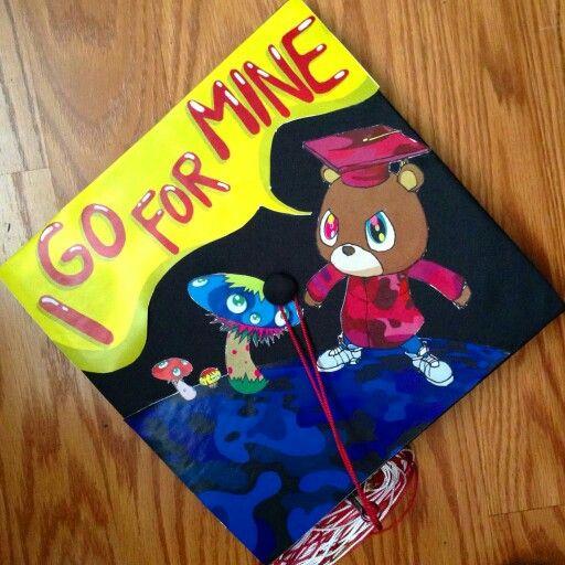 Kanye West Graduation Cap Kanye West Graduation Cap Creative Graduation Caps Graduation Cap Designs