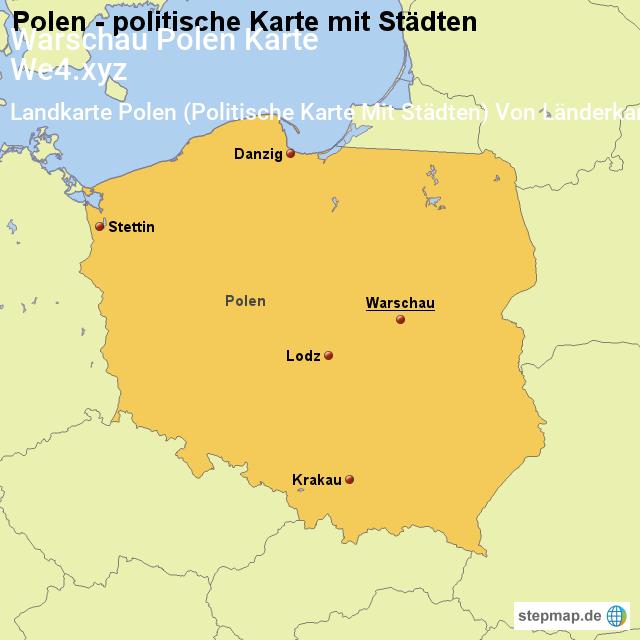 Warschau Polen Karte Image 17 Landkarte Polen Politische